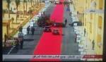 Red carpet for President Sisi's motorcade