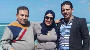 Rasha Tarek with her murdered father and husband